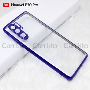 Huawei P30 Pro Mate 30 Pro Mate 20 Pro Electroplate Ver 4 Crystal Transparent Case Cover TPU Soft Lens Protection Casing