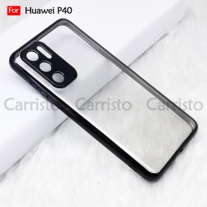 Huawei P40 P40 Pro P40 Pro Plus Electroplate Ver 4 Crystal Transparent Case Cover TPU Soft Camera Lens Protection Casing