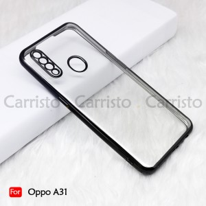 Oppo A31 A92 A91 A9 2020 A5 2020 Electroplate Ver 4 Crystal Transparent Case Cover TPU Soft Lens Protection Casing