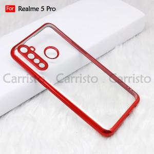 Realme XT X50 X3 Super Zoom Realme 5 Pro Electroplate Ver 4 Transparent Case Cover TPU Soft Lens Protection Casing