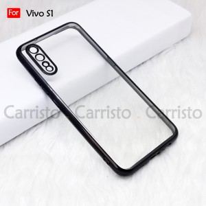 Vivo S1 Y50 Y30 X50 X50 Pro Electroplate Ver 4 Crystal Transparent Case Cover TPU Soft Camera Lens Protection Casing