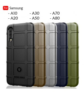 Samsung Galaxy A10 A20 A30 A50 A70 A80 Rugged Shield Thick TPU Shockproof Case Cover Airbag Protection Casing Housing