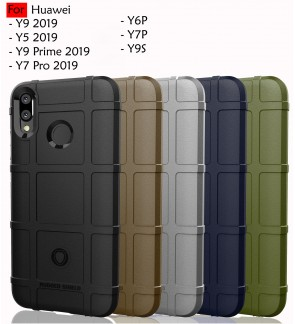 Huawei Y9 Prime 2019 Y6P Y7P Y7 Pro Y5 Y9 2019 Y9S Rugged Shield Thick TPU Shockproof Case Cover Airbag Casing Housing